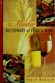 Cover of: Master dictionary of food and wine