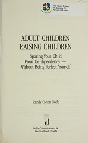 Cover of: Adult children raising children