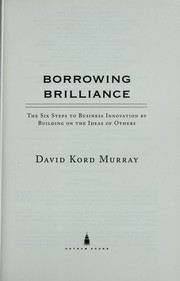 Cover of: Borrowing brilliance | David Kord Murray
