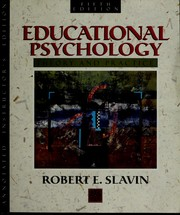 Cover of: Educational Psychology | Robert E. Slavin