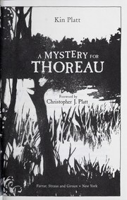 A mystery for Thoreau