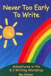Cover of: Never Too Early to Write