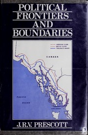 Cover of: Political frontiers and boundaries