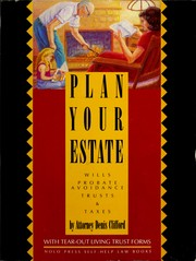 Cover of: Plan Your Estate With a Living Trust | Denis Clifford
