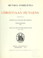 Cover of: Oeuvres complètes de Christiaan Hugens