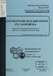 Cover of: Fault-rupture hazard zones in California