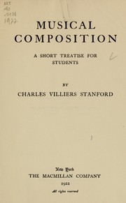 Cover of: Musical composition