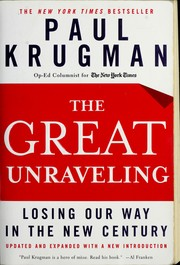 Cover of: The great unraveling