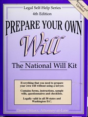 Cover of: Prepare your own will | Dan Sitarz