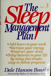 Cover of: The sleep management plan