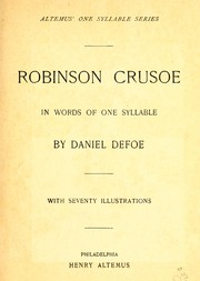 Cover of: Robinson Crusoe | Daniel Defoe