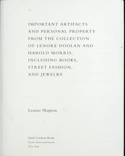 Cover of: Important artifacts and personal property from the collection of Lenore Doolan and Harold Morris, including books, street fashion, and jewelry