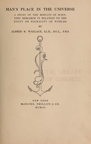 Cover of: Man's place in the universe | Alfred Russel Wallace