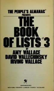 Cover of: BOOK OF LISTS #3, THE (Book of Lists)