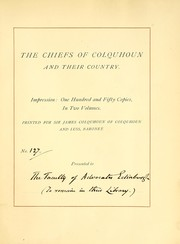 Cover of: The chiefs of Colquhoun and their country. [With plates, including portraits and facsimiles, and genealogical tables.] | Fraser, William Sir