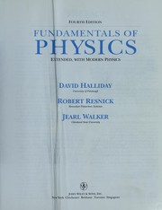 Cover of: Fundamentals of Physics