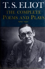 Cover of: The complete poems and plays, 1909-1950