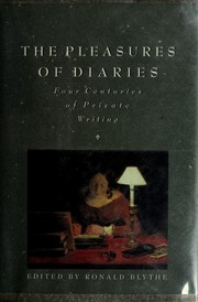 Cover of: The Pleasures of diaries |