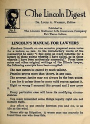 Cover of: Lincoln's manual for lawyers