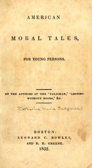 Cover of: American moral tales