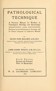 Cover of: Pathological technique