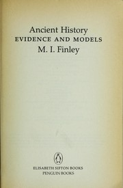 Cover of: Ancient history | Moses I. Finley