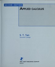 Cover of: Applied calculus | Soo Tang Tan