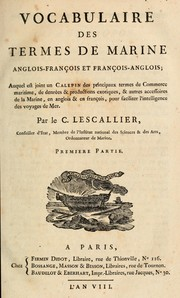 Cover of: Vocabulaire des termes de marine