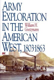 Cover of: Army exploration in the American West, 1803-1863