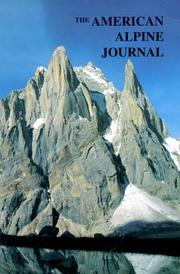 Cover of: American Alpine Journal 1999 (American Alpine Journal)