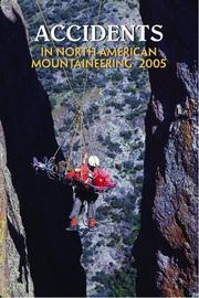Cover of: Accidents in North American Mountaineering