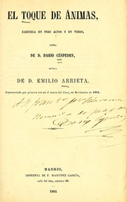 Cover of: El toque de ánimas