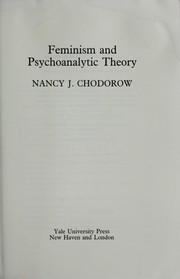 Feminism and psychoanalytic theory by Nancy J. Chodorow