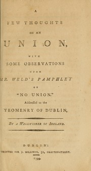 A few thoughts on an union by Wellwisher of Ireland