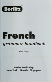 Cover of: French grammar handbook