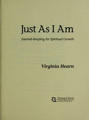 Cover of: Just as I am