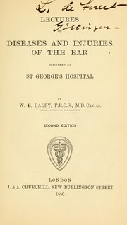 Lectures on diseases and injuries of the ear