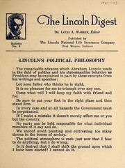 Cover of: Lincoln's political philosophy