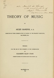 Cover of: Theory of music
