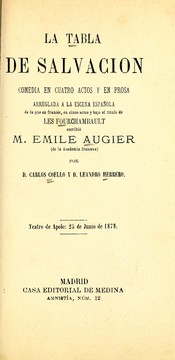Cover of: La tabla de salvación
