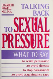 Cover of: Talking back to sexual pressure