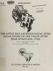 Cover of: The Little Man archaeological sites | Gardiner F. Dalley