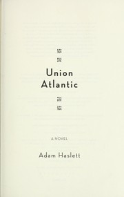 Cover of: First Atlantic | Adam Haslett