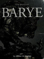 Barye by Edith Mannoni