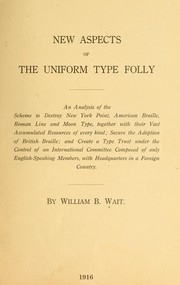 Cover of: New aspects of the uniform type folly