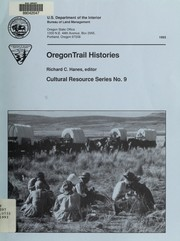 Cover of: Oregon Trail histories | Richard Clay Hanes