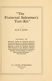 Cover of: The fraternal salesman's tool-kit,""