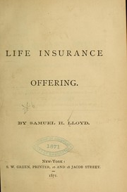 Cover of: Life insurance offering