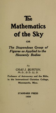 Cover of: The mathematics of the sky