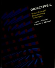 Cover of: Objective-C | Lewis J. Pinson